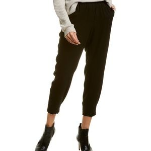 Vince Solid Joggers w/ Back Pocket in Black XS